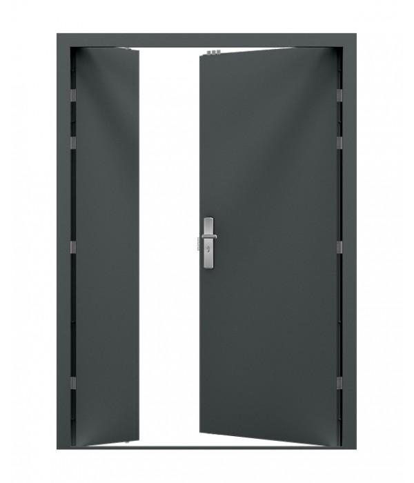 Anthracite grey leaf and half double steel door  sc 1 st  Latham\u0027s Steel Doors & Steel Security Doors - Double   Latham\u0027s Steel Doors