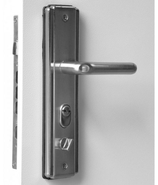 Hooply Lever Handles, #5586, Inside View, Open, LH Hinge