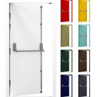 Security Steel Fire Exit Door with Exidor 294 Panic bar
