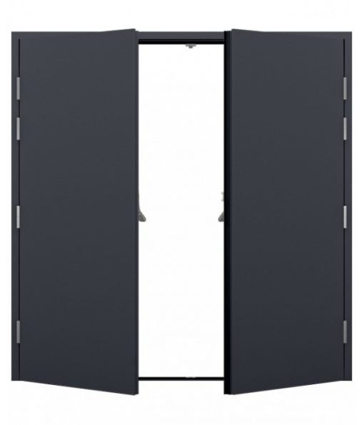 Anthracite Grey Double Fire Exit Doors
