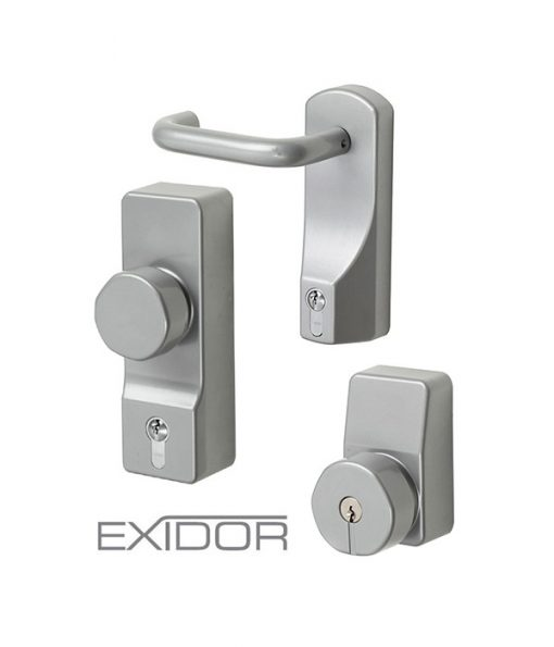 Double Fire Exit Door Exidor Outside Access Devices Options