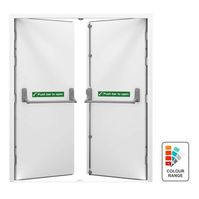 double fire exit door with colour range icon