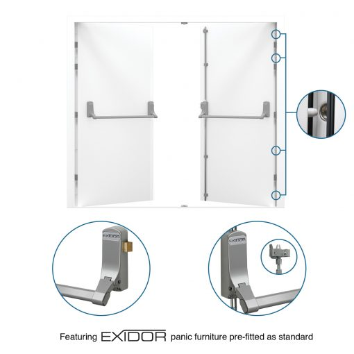 USP Image for Fire Exit Double Door showing Exidor 285A Panic Furniture