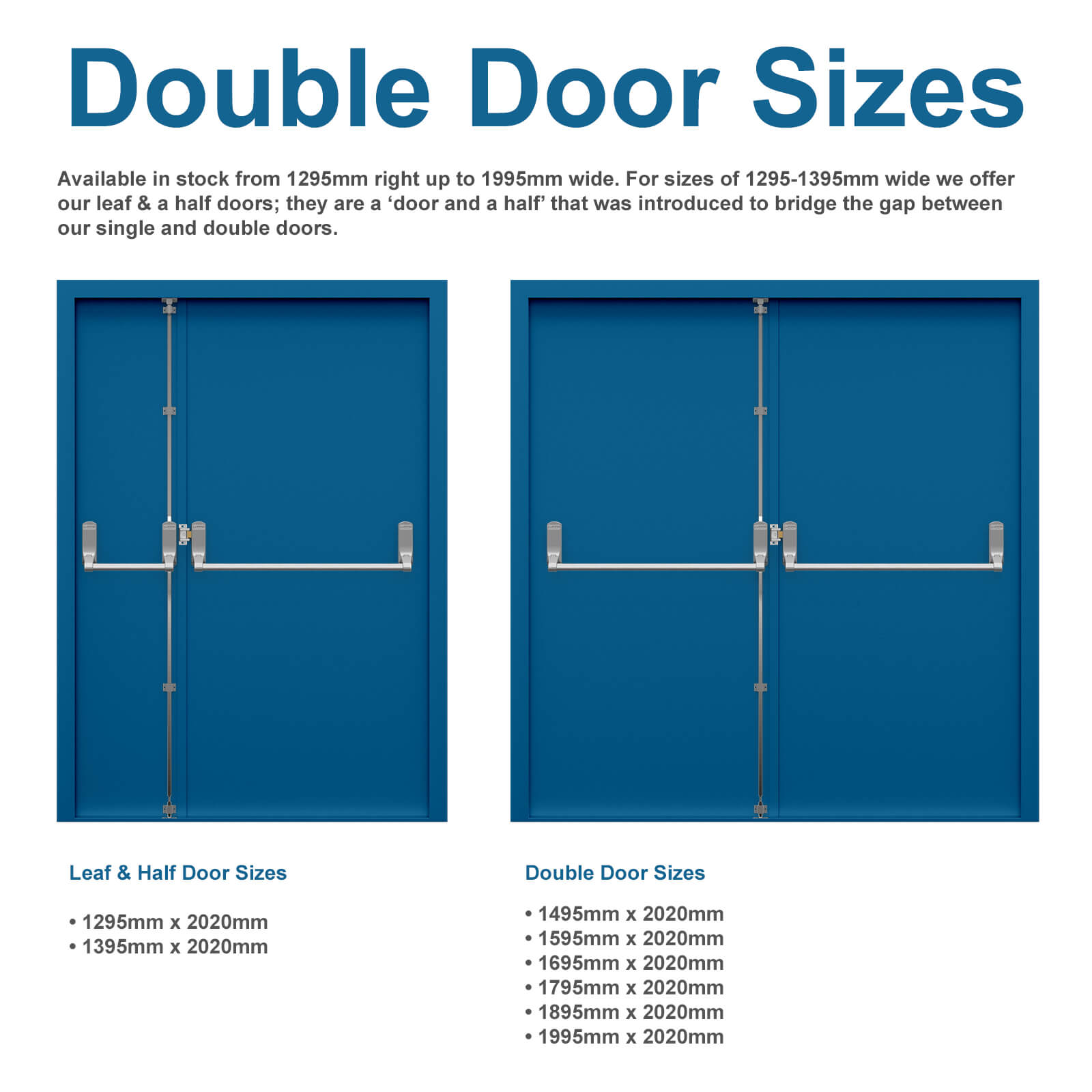 Door Sizes Double Fire Exit Doors And Leaf And Half Fire Exit Doors