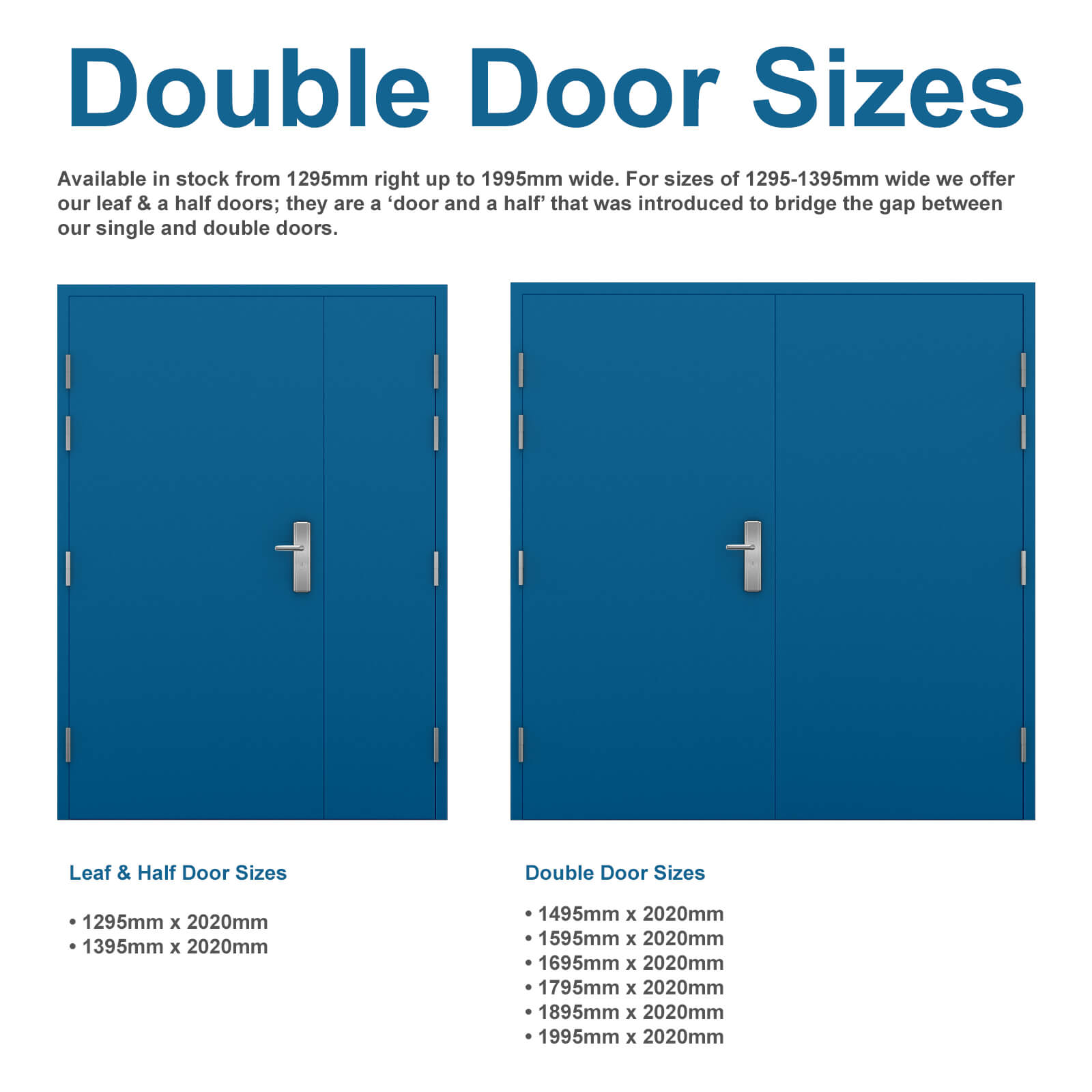 Bon Double Steel Door U0026 Leaf And Half Steel Door Sizes