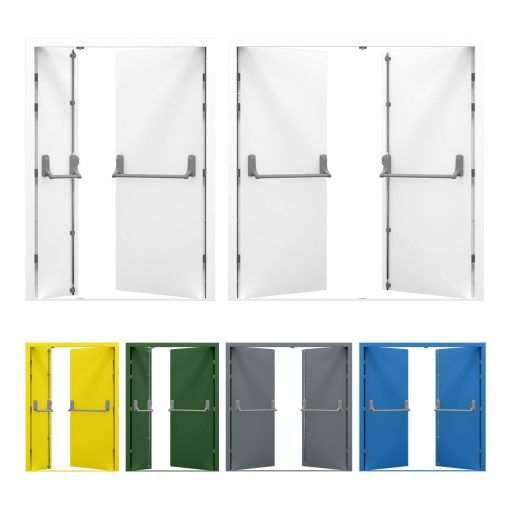 Double Fire Exit Doors, available in sizes from 1.3m to 2m wide