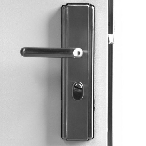 Hooply Lever Handles, #5586, Closed View, LH Hinge