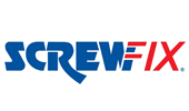 Screwfix logo, used as Latham's Steel Doors client image