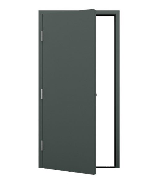 Plain Merlin Grey Fire Exit Door