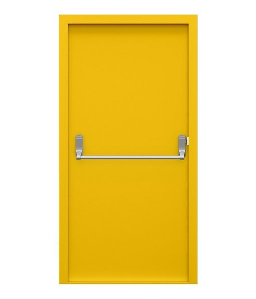 Canary Yellow Fire Exit Door
