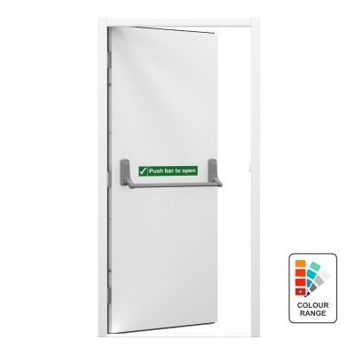 budget fire exit door with push bar to open sticker