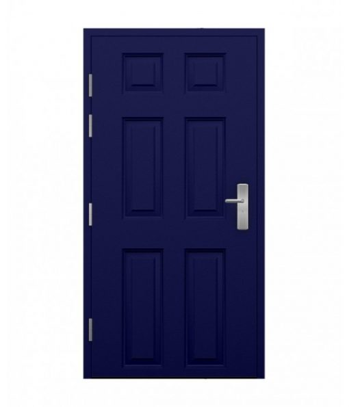 Ultramarine blue Steel 6 panel Door