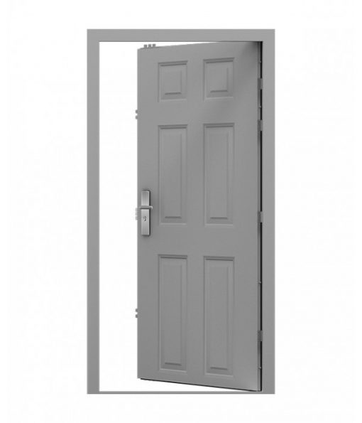 Goosewing grey 6 Panel Steel Door