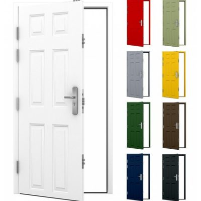6 Panel Security Steel Door