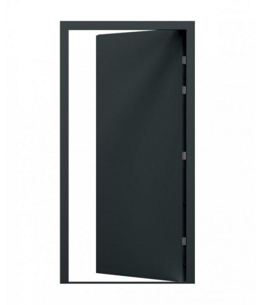 Grey Blank Steel Door, RH hinge, Open in