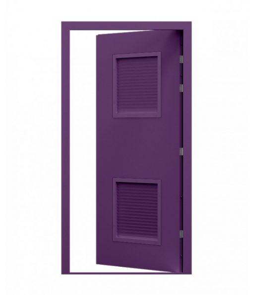 Purple Louvred Blank Steel Door