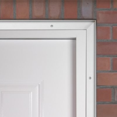 Security trim kit for steel doors
