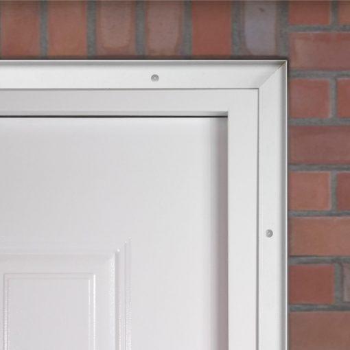 Security trim kit for steel doors