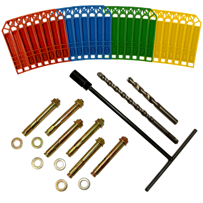 Contents of brick fixing kit