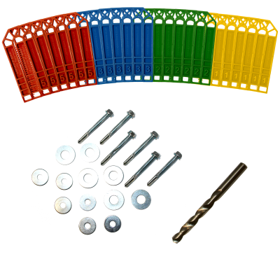 Contents of a metal fixing kit