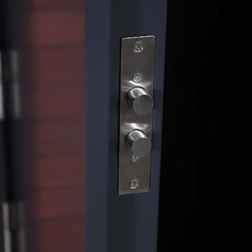 security multi point locking system side lock close up