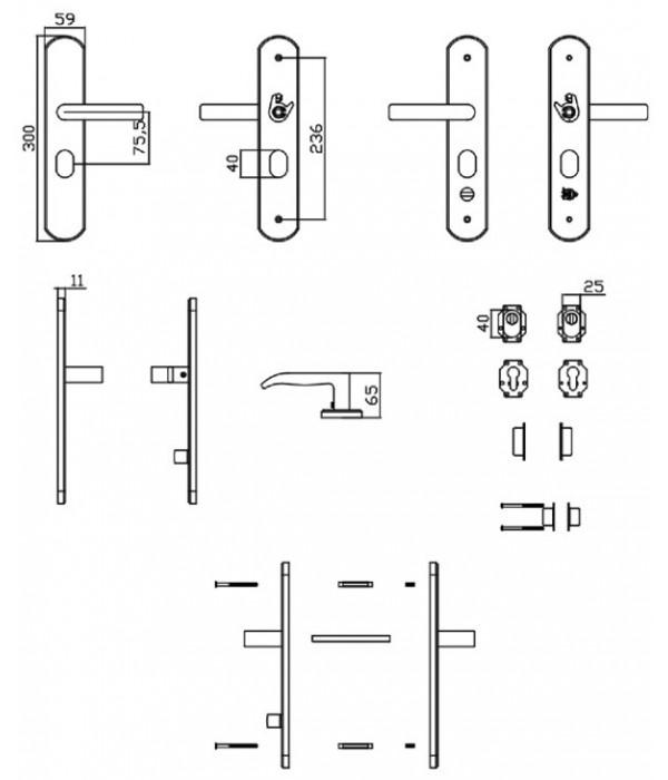 heavy duty stainless steel hooply handle  s0301