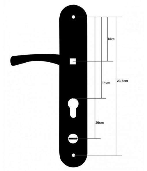 UPVC Style Hooply Replacement Handle 2018T