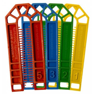 Flat Plastic Door Packers / Shims / Spacers