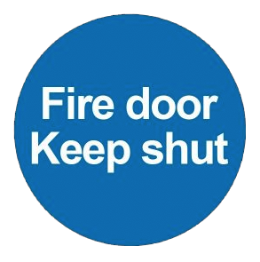 Fire door keep shut sticker for fire exit doors
