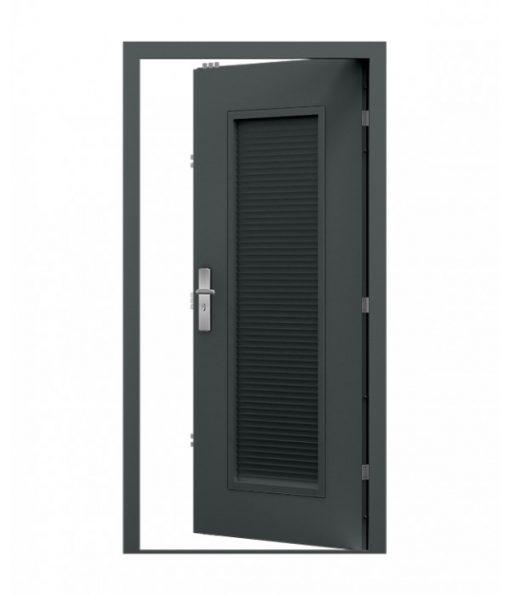 Grey Louvre Steel Door