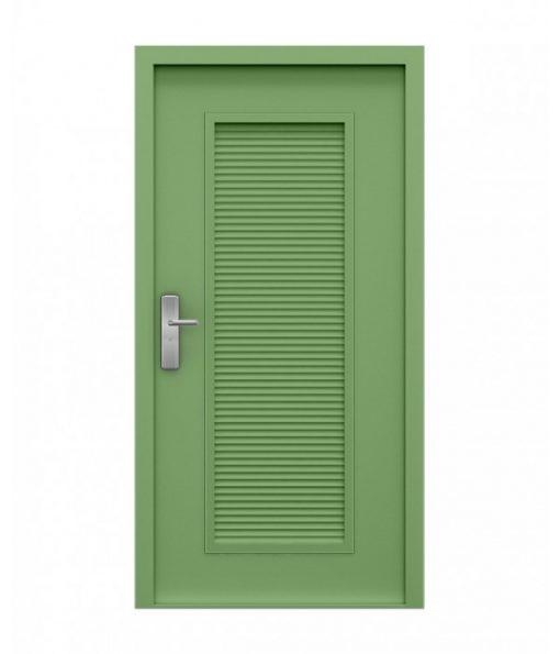 Pale Green Steel Louvre Door