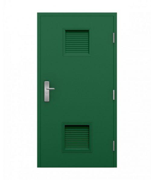 Green plant room door