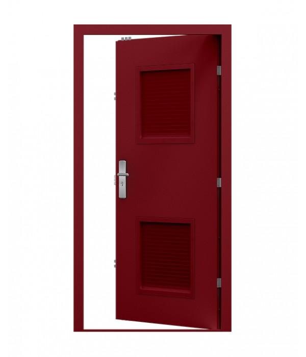 Burgundy Steel Louvre Door  sc 1 st  Lathamu0027s Steel Doors & Steel Louvred Door - Standard Duty | Lathamu0027s Steel Doors