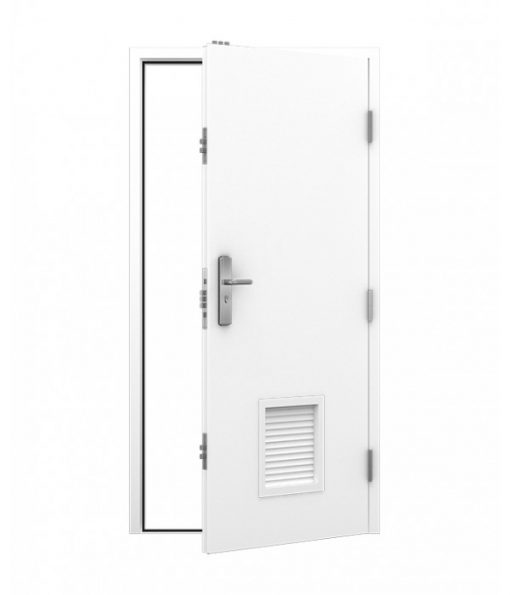 Plant room Door with small louvre panel top and bottom