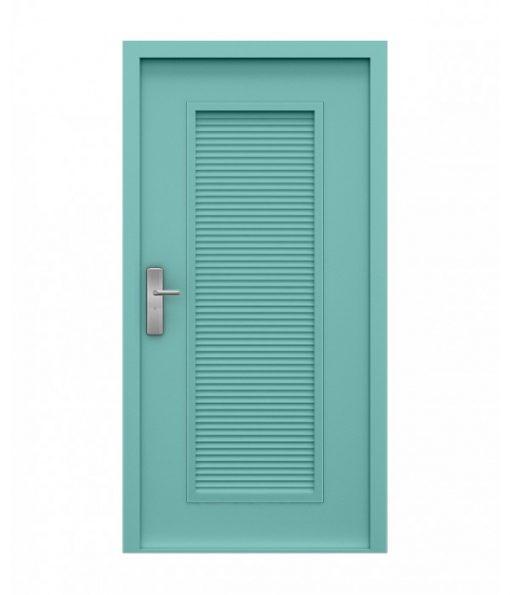 Teal Steel Louvred Door (Security)