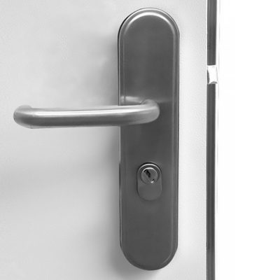 Container Door Hooply Lever Handles - Stainless Steel - Outside View
