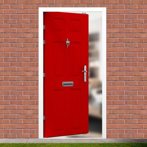 6 Panel Security Front Door