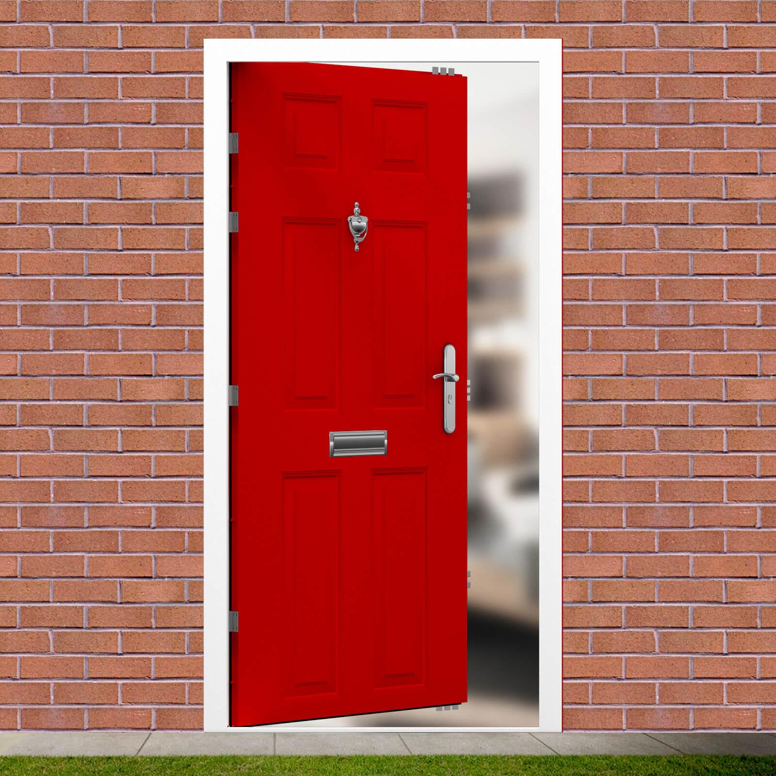 Security Front Door - 6 Panel | Latham's Steel Doors