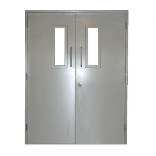 Glazed Custom Made Fire Rated Steel Double Door