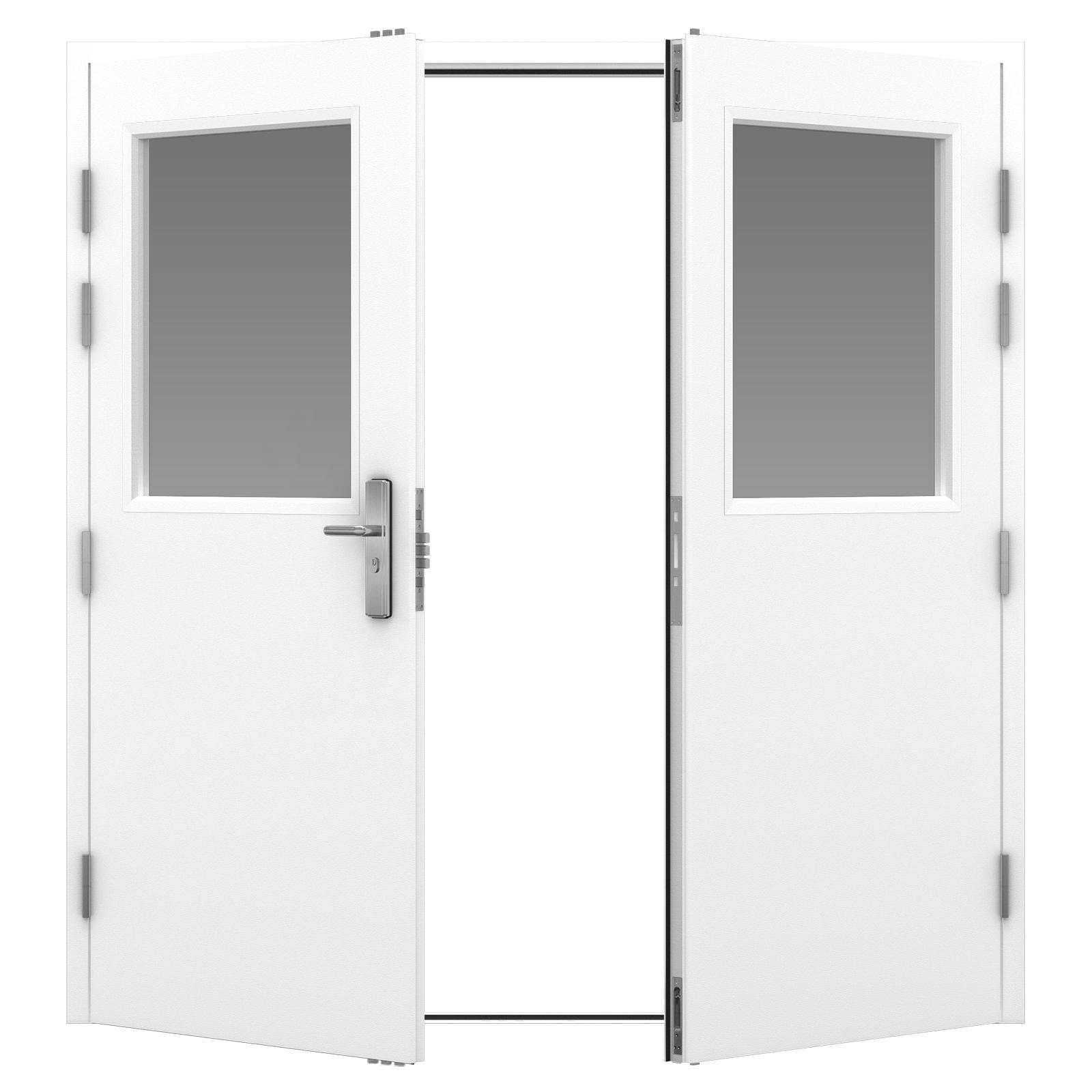 Glazed Steel Security Double Door Latham S Steel Doors