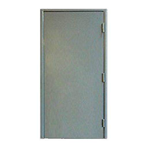 External view of a custom made steel fire exit door