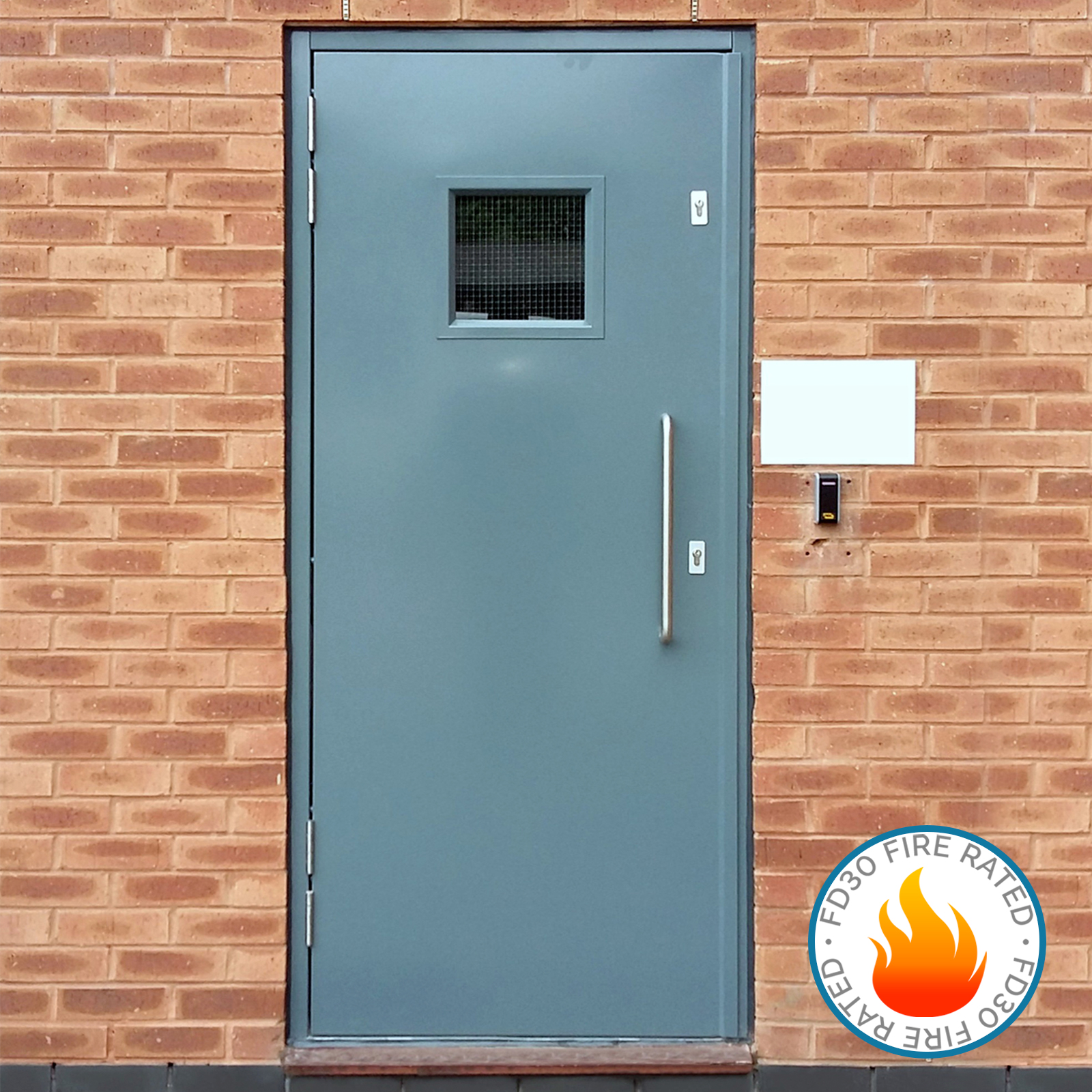 Fire rated steel doors latham 39 s steel doors - What is a fire rated door ...