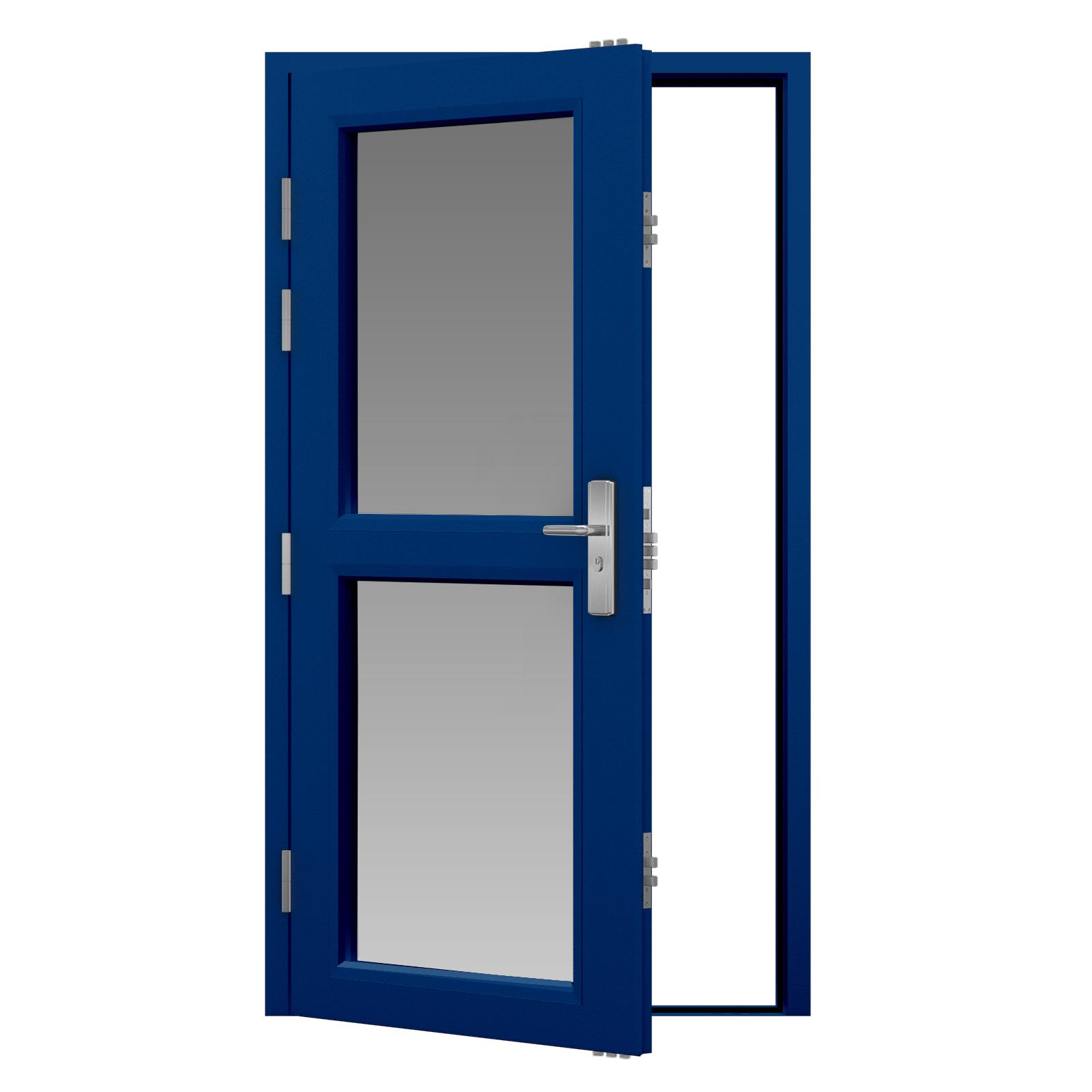 Glazed steel security door latham 39 s steel doors for Door security