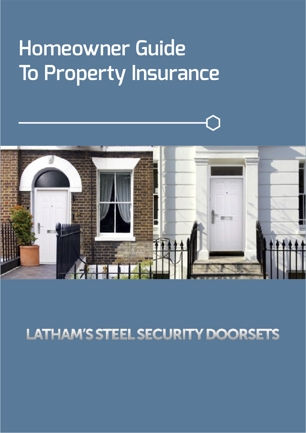Homeowner guide to property insurance screenshot showing front doors