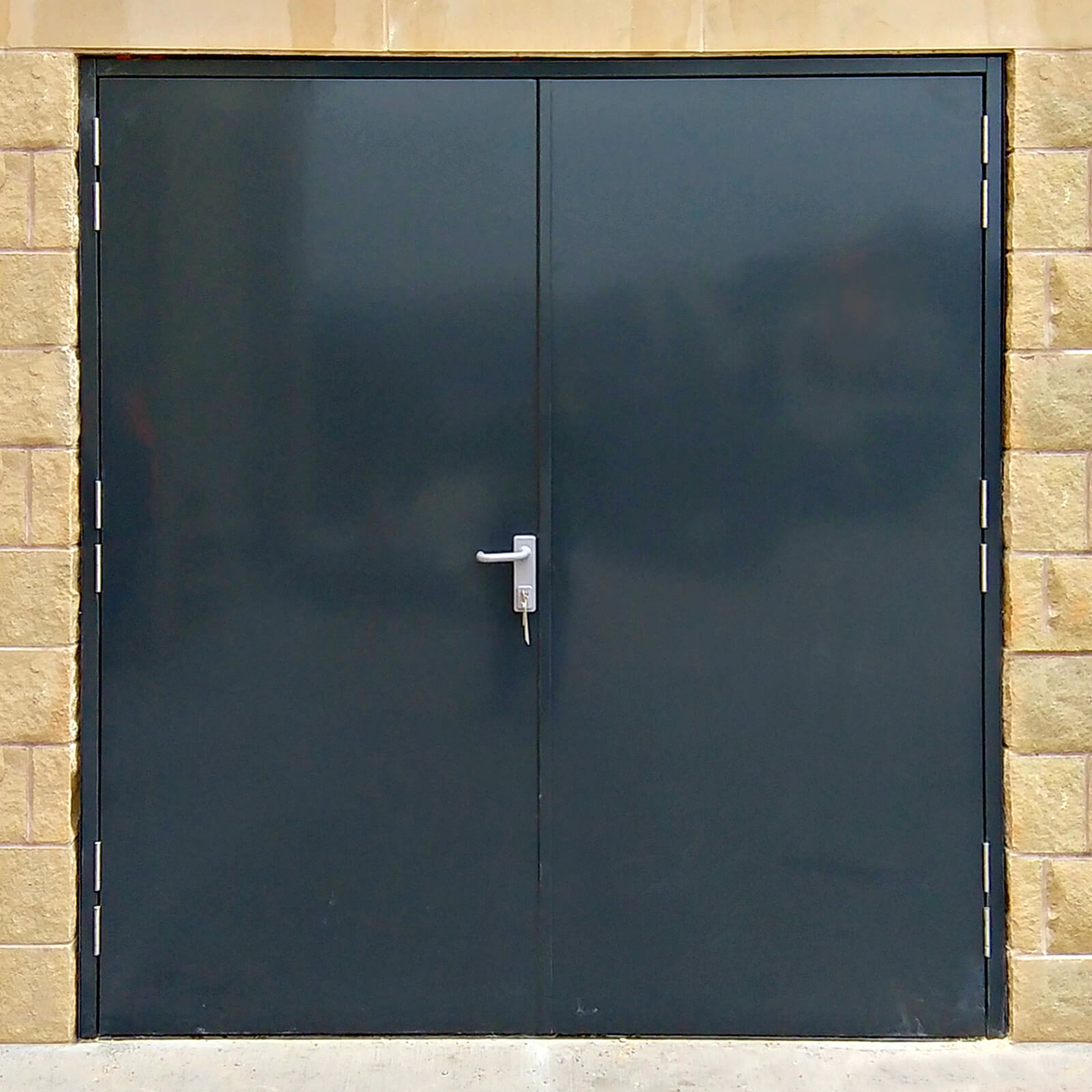 Fire rated double doors latham 39 s steel doors - What is a fire rated door ...