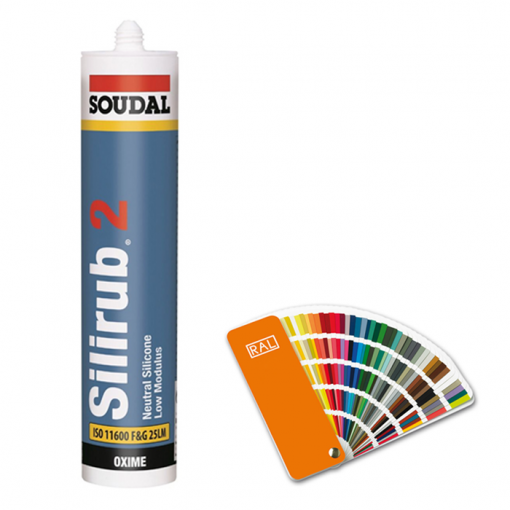 Silicone sealant with RAL colour chart