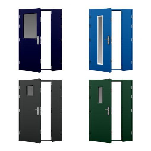 four glazed leaf and half door variations