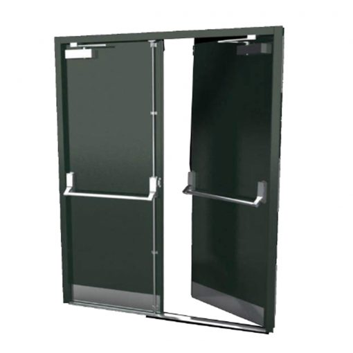 Custom Fire Rated Fire Exit Door with Kick Plate