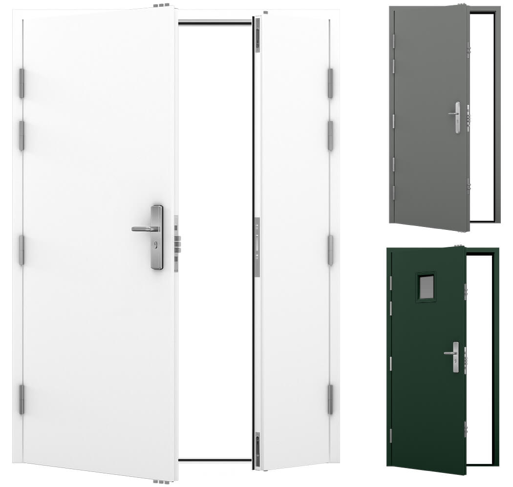 A selection of Latham's Steel Security Doors, for the category image