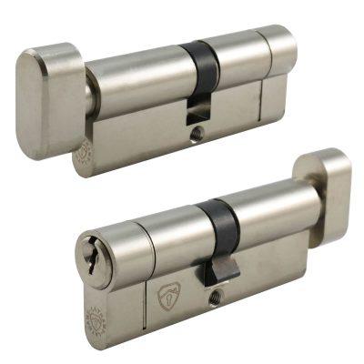 Euro cylinder lock with thumb turn
